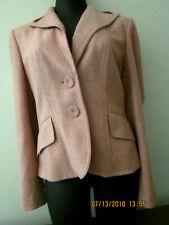 Women's ANN TAYLOR Mauve/Pink/Salmon Tweed Fitted Blazer Jacket EUC Size 6