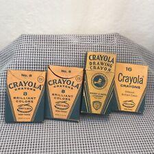 Crayola Crayons Binney & Smith Rubens Vintage Lot no. 8 16 24 Package Box Set