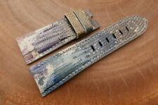 26mm/22mm Galaxy Genuine LIZARD Skin Leather Watch Strap forPANERAI