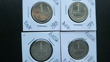Russia USSR set of 4 x 1 ruble coins 1988,89,90,91.