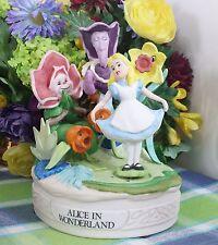 Disney Alice in Wonderland Music box Porcelain Magical Memories Musical