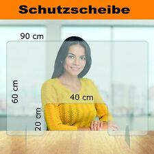 60x90 cm Infektionsschutz mit Durchreiche Thekenaufsatz Husten-, Niesschutz