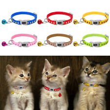 Cute Paw Print Nylon Dog Collars Adjustable for Small Puppy Cat Kitten with Bell