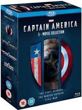 CAPTAIN AMERICA 1-3 (2011-2016) BLU-RAY MARVEL - Avenger, Winter, Civil War  NEW