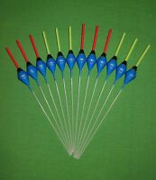 12 x Assorted High Quality Pole Fishing Floats (Pack D)