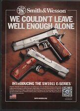 2011 SMITH & WESSON SW1911 E-Series Pistol PRINT AD