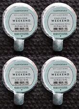4 Bath & Body Works Endless Weekend Scentportable Car Fragrance Refill