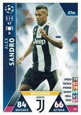 Topps Match Attax Champions League Card No. 382 Alex Sandro Juventus