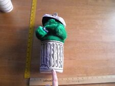 """Oscar the Grouch in trash can Applause 11"""" Muppets Jim Henson W/ tag"""
