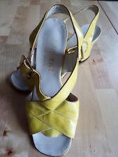 Sandales Vintage Jaune Poussin P. 6