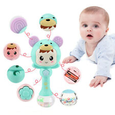 UK Baby Kid Education Toy Musical Teething Early Rattle Gift Stick Happy Teether