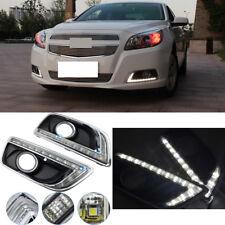 White LED Daytime Running Light For Chevy Malibu Fog Lamp DRL 2013 - 2015