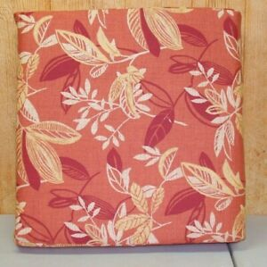 Outdoor Patio Deep Seat Bottom Cushion MIX 'N MATCH ~ Pumpkin Floral 24.5x23x4.5