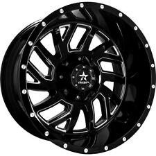 Set of 5 20x10 RBP 65R Glock Wheels Gloss Black Machined Jeep Wrangler JK JL 5x5