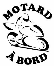 Sticker Autocollant MOTARD A BORD 5 - Vinyl brillant couleur au choix
