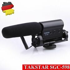 TAKSTAR Stereo Interview Kondensator Mikrofon für Nikon Canon Sony DSLR Kamera