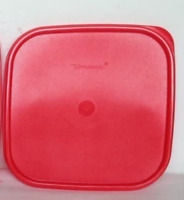 """Tupperware Modular Mates Square Chilli Red Seal Replacement Lid Brand 7 ⅜""""Sq New"""