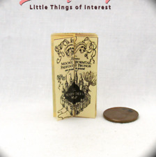 MARAUDERS MAP Dollhouse Miniatures 1:12 Scale Potter Magic Wizard Witch