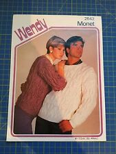 Wendy His & Hers Cable Knit Sweaters Knitting Pattern 2642