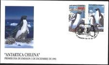 FDC  S/S Antarctic  Fauna  Birds Penguins 1993  from Chile  avdpz