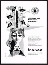1960 Vintage France French Travel Tourism M. Diesse Art Print Ad