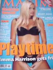 june 1998 Maxim UK #38 Emma Harrison sexy cover + Thierry Mugler + Nurses on sex