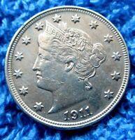 1911 Liberty Nickel  Higher Grade A13-780