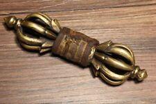 "6.5"" Old Tibet Buddhist Bronze Dorje Phurpa Mahakala Buddha Vajra Dagger"