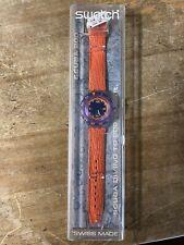swatch watch Scuba 200 Orange In Box