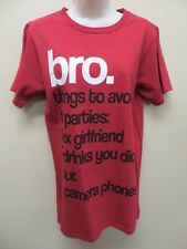 Bro. Tee Shirt Three Things To Avoid At A Party Men's Size Small Graphic T Shirt