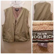 Woolrich Men's Canvas Vest Jacket Size XL Fleece Lined Outdoors Adventure