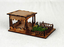 Far east ou jungle outpost 15mm laser cut mdf K508