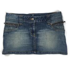 Topshop Moto Casual Short Stretch Mini Denim Skirt Size 10
