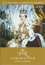 2003 Coronation Golden Jubilee 50c Self Adhesive Stamp Booklet:Muh