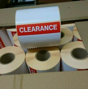 CLEARANCE Labels Roll 500x Red Sale Reduced Price Point Stickers Sticky Thermal