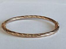 14k  Fine Rose 🥀 Gold Bangle Bracelet Women's Fine Jewelry