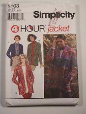 S-9163 Jacket Sewing Pattern Simplicity Plus Size Large-XLarge Uncut