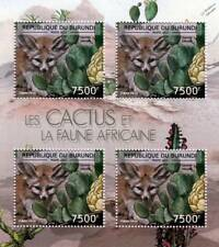CACTUS & FAUNA of AFRICA / FENNEC FOX Stamp Sheet #7 of 7 (2012 Burundi)