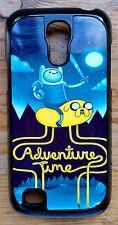 For Samsung Galaxy S4 i9500 Adventure Time Design Black Hard Back Case