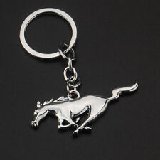 New Ford Mustang Silver Metal Key Chain - GT, Cobra, Shelby, Ecoboost Keychain