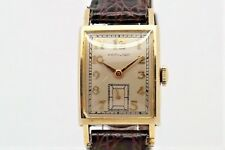 Hamilton 10K Solid Gold gents manual wind watch with sub dial