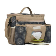 Roma Parent Organiser Designer Changing Bag Pram Accessory Messenger - Maple