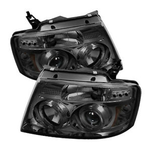 Spyder for Ford for F150 04-08 Projector Headlights Version 2 LED Halo LED Smke