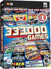 333,000 Games Card Board Action Casino Puzzle PC Game DVD chess pinball golf WOW