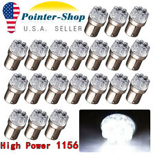 20x Super White 1156 BA15S 9-SMD LED Tail Brake Stop Turn Signal Light Bulbs