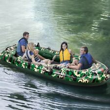 Camouflage 4-Person 10FT Inflatable Dinghy Boat Fishing Rafting Water Sports