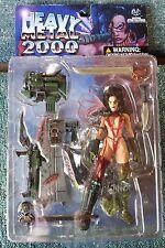 MOORE HEAVY METAL 2000 FAKK 2 JULIE STRAIN EXCLUSIVE RED ACTION FIGURE R40