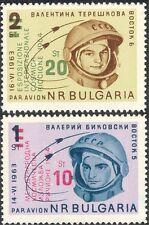 Bulgaria 1964 espacio/Tereshkova/Bykovsky/Astronautas/recargo 2v Set O/P (n28994)