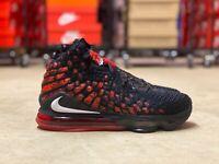 Nike LeBron 17 Infrared Mid Mens Basketball Shoes Black/Red BQ3177-006 Multi Sz
