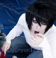 New DEATH NOTE L Lawliet Black Short Anime Cosplay Party Hair wig Gift